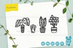 Plants svg bundle, House plants svg, succulents cut file Product Image 4
