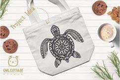 Turtle Mandala Svg Cut File, Turtle Svg, SeaTattoo Design Product Image 4