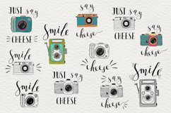 Set of cameras with letterings. Product Image 2