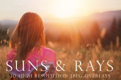 Suns and rays photoshop overlays Product Image 1