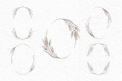 Vintage wedding clipart | Pink floral wreath clipart Product Image 2
