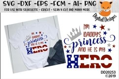I am Daddy's Princess And He Is My Hero military Child SVG Product Image 1