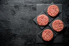 20 Photos Raw burgers. Cooking of beef Burger patties. Product Image 6