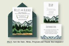 Mountain Wedding Invitation Suite Product Image 1