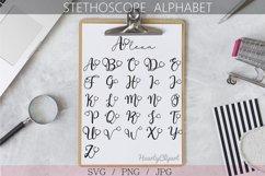 Stethoscope alphabet svg, nurse svg designs Product Image 1