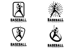 Baseball player logo vector design illustration Product Image 1