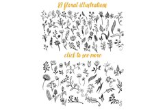 150 Hand-Drawn Floral Illustrations Product Image 2