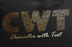 Character with Text Font Product Image 1