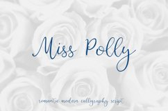 Miss Polly, romantic modern calligraphy script Product Image 1