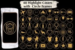 48 Gold Glitter Instagram Highlight Covers. Product Image 3