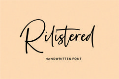 Rilistered // Handwtitten font Product Image 1
