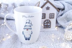 Watercolor Scandinavian navy blue gnome clipart Product Image 4