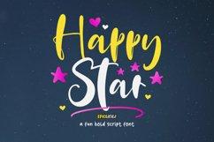 Happy Star - A Fun Bold Script Font Product Image 1