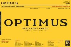 Optimus - Serif font family Product Image 1