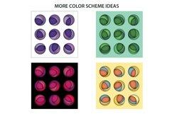 3D Layered Modern Art Circles Shadow Box SVG Cutting File Product Image 3
