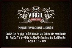 """Vintage otf font """"Virgil"""" Product Image 2"""