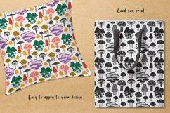 Mushrooms. Botanical, natural, floral seamless patterns. Product Image 3