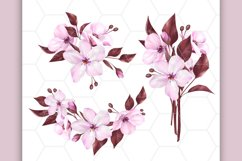 Pink floral clipart, floral frames Product Image 2