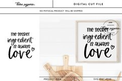 The Secret Ingredient is Always Love SVG Product Image 1
