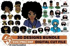30x Amazing Nurse Bundle svg, Healthcare svg, Black History Product Image 1