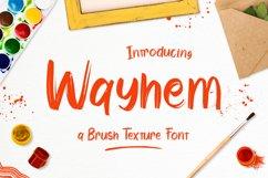 Wayhem - Textured Brush Font Product Image 1