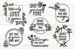 Vol 1 - Inspirational Quotes svg Bundle Floral Product Image 1