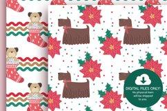 Christmas Dog Digital Papers Product Image 4
