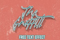 The Graffiti Font   Free Text Effect Product Image 3