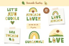 Avocados Quotes, Avocado Rainbow lettering, EPS, PNG Product Image 1