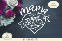 Mama of drama SVG cut file Mothers day saying Product Image 1