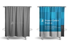 Shower Curtain Mockup for Sublimation Preview Design Product Image 1