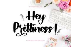 Hey Prettiness! Font & Bonus Vectors Product Image 1