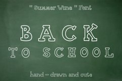 Summer Wine - hand drawn font Product Image 1