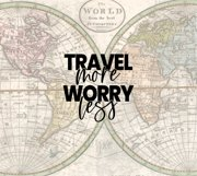 Travel More Worry Less   20oz Tumbler   Sublimation Graphic Product Image 2