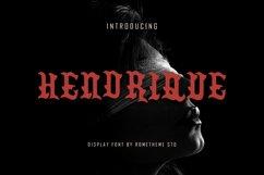 Hendrique - Font DR Product Image 1