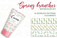 Spring branches. Watercolor set. PNG, JPG Product Image 1