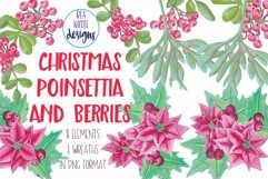 Christmas Poinsettia and Berries Product Image 1