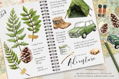 Camping Adventure Clipart and Papers Product Image 3