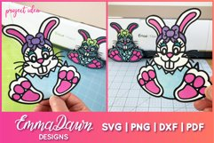 BELLA THE EASTER BUNNY SVG, MANDALA ZENTANGLE 2 DESIGNS Product Image 2