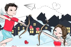 Love is in the air - Clipart Product Image 6