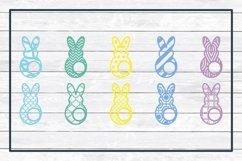 Easter Bunny and Egg Monogram Frame Bundle, SVG Cut Files Product Image 2