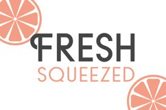 Fresh Squeezed Font Duo Product Image 1