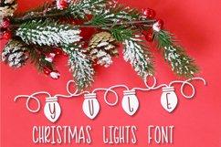 YULE - Christmas Lights Font  Product Image 1