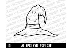 Witch Hat Clipart SVG, Wizard Hat Shape Ai, Eps, Pdf, Dxf. Product Image 5