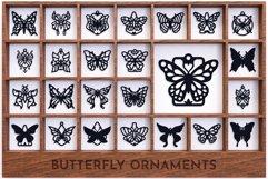 Laser Cut Files Vol.2 - 50 Butterfly Ornaments Bundle Product Image 3