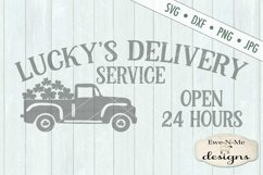 St. Patricks Day Truck Lucky's Delivery SVG DXF Cut File Product Image 2