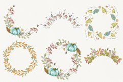 Watercolor autumn wreath. Isolated cliparts Product Image 2