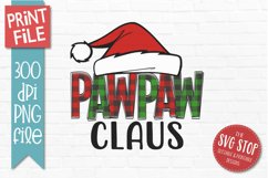 PawPaw Claus Christmas Sublimation PNG Product Image 1