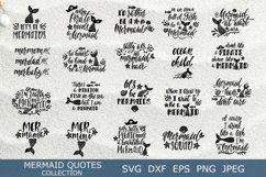 Mermaid quotes SVG bundle. 22 unique summer vector designs. Product Image 1