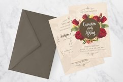 Floral Wedding Invitation Card Product Image 4